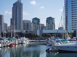 Southeastern part of the Marina district viewed from Marina Park.