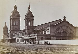 Toronto Union Station (1873) - Image: Second Union Station in 1878