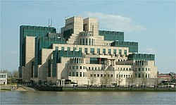 Secret Intelligence Service building - Vauxhall Cross - Vauxhall - London - from Millbank 24042004.jpg