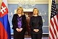 Secretary Clinton Holds a Bilateral Meeting With Slovak Prime Minister Radicova (5177379328).jpg