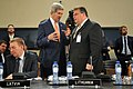 Secretary Kerry Chats With Lithuanian Foreign Minister Linkevicius Before NATO Meeting in Brussels (14504056952).jpg