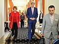 Secretary Kerry Walks With European Union High Representative Ashton Following Meeting in Brussels (14503867864).jpg