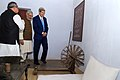 Secretary Kerry looks at Gandhi's bed, desk, and dpinning wheel during visit to Sabarmati Ashram.jpg