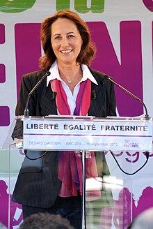 Ségolène Royal lors de la 3ème édition de la fête de la Fraternité à Arcueil, le samedi 18 septembre 2010.