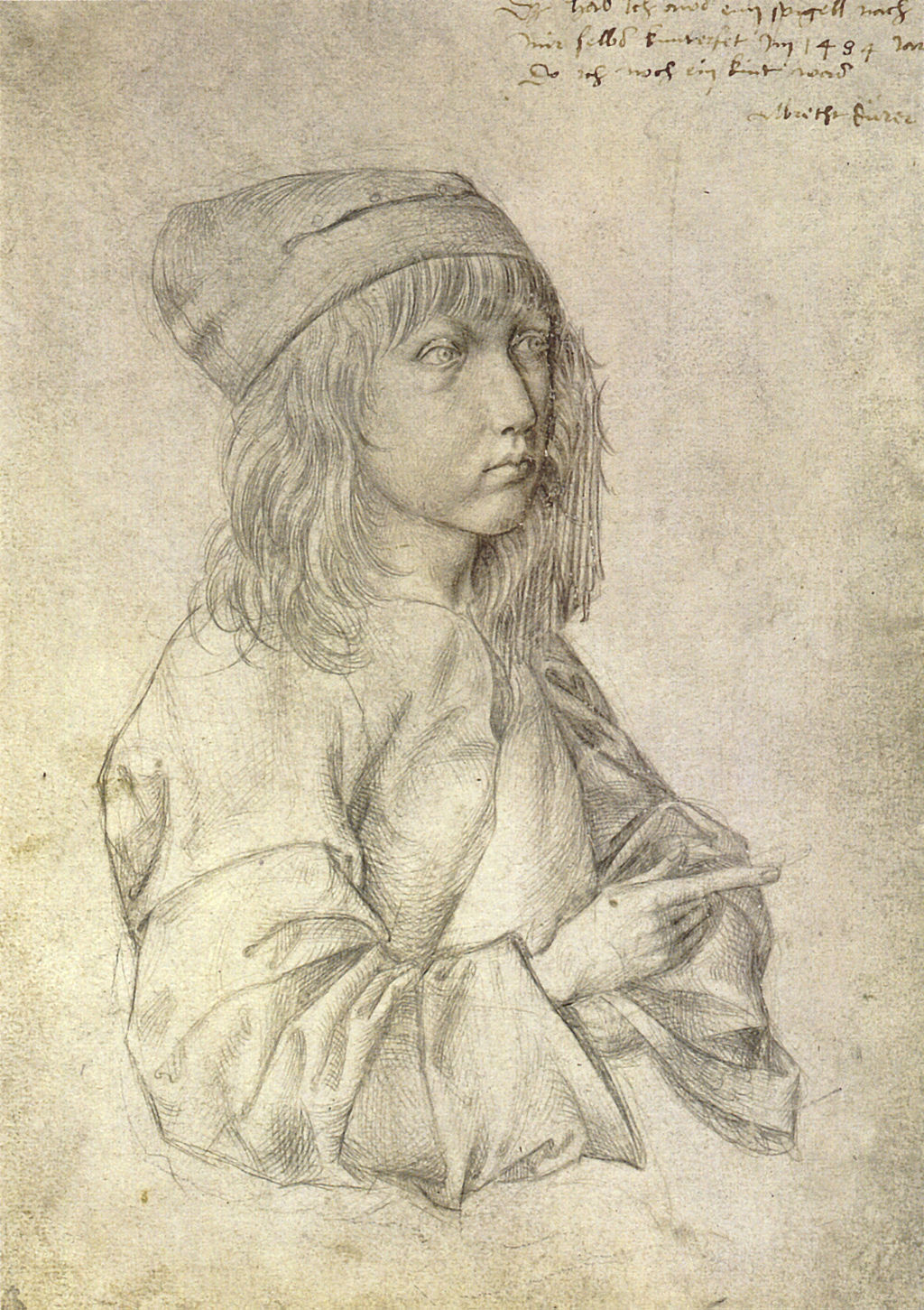 Selbstporträt mit 13 von Albrecht Dürer