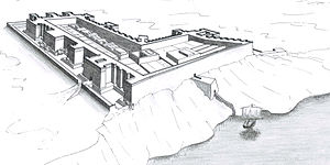Semna (Nubia) - Perspective view of a reconstruction of the Semna West Fort