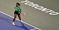Serena Williams Backhand 2011.jpg