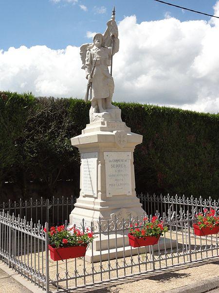 Serres (M-et-M) monument aux morts