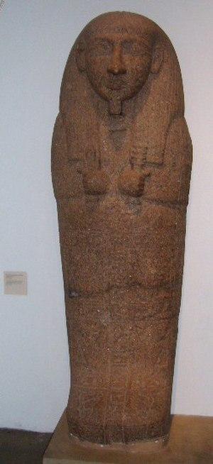 Setau - Sarcophagus lid of Setau (British Museum)