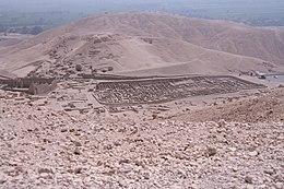 Vue panoramique sur le village de Deir el-Médineh