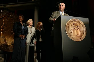 The Shield - Shawn Ryan with cast members at the 65th Annual Peabody Awards