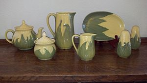 Shawnee Pottery - A collection of Shawnee Corn King Pottery