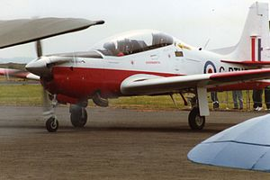 Embraer EMB 312 Tucano - A Short Tucano development aircraft on public display, June 1991