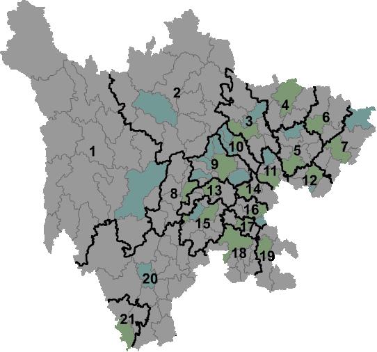 Sichuan prfc map