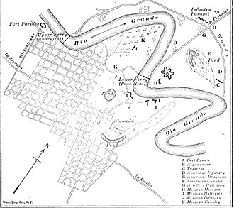 Siege of Fort Texas - Image: Siege map of Fort Texas