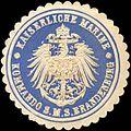 Siegelmarke Kaiserliche Marine - Kommando S. M. S. Brandenburg W0214054.jpg