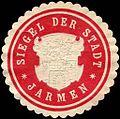 Siegelmarke Siegel der Stadt - Jarmen W0214829.jpg