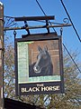 Sign for the Black Horse Inn, Hurdcott - geograph.org.uk - 311300.jpg