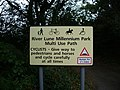 Sign for the River Lune Millennium Park Multi Use Path - geograph.org.uk - 574210.jpg
