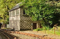 Signalbox at Tan-y-Bwlch railway station (8188).jpg