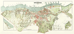 History of Gothenburg - 1888 map of Gothenburg