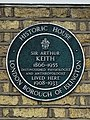 Sir Arthur Keith (1866–1955) distinguished physiologist and anthropologist lived here 1908-1933.jpg
