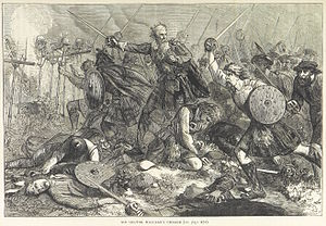 Battle of Inverkeithing - Clan Maclean charges, from an 1873 book