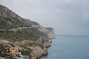 Garraf Massif - Massís del Garraf shoreline cliffs near Sitges
