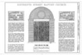 Sixteenth Street Baptist Church, 1530 Sixth Avenue North, Birmingham, Jefferson County, AL HABS ALA,37-BIRM,33- (sheet 1 of 16).png