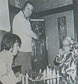 Sky Low Low and Tom Thumb playing chess - Wrestling Revue - October 1973 p.39 (cropped).jpg