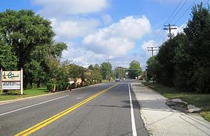 County Route 534 (New Jersey) - CR 534's eastern terminus at Burlington CR 620
