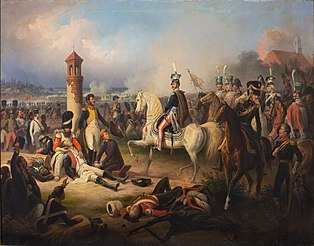 Death of Cyprian Godebski in the Battle of Raszyn.