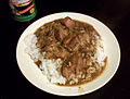 Smothered pork roast rice and gravy HRoe 2012.jpg