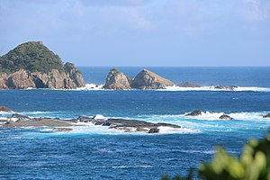 Sobieto rock located on the south side of Okinokuroshima Island A.jpg