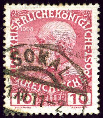 Sokal - Austrian monarchy stamp cancelled in 1911 in province Galicia
