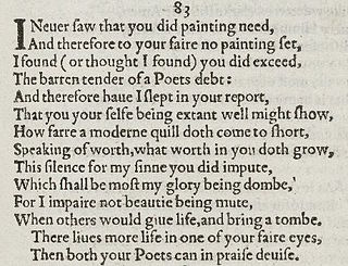 Sonnet 83 poem by William Shakespeare