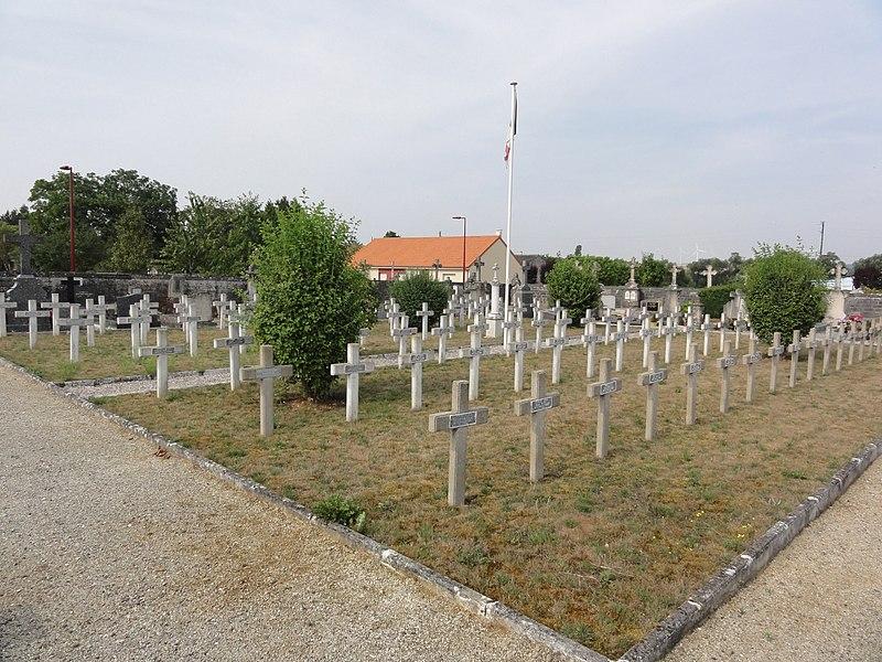 Sorcy-Saint-Martin (Meuse) cimetière, carré militaire