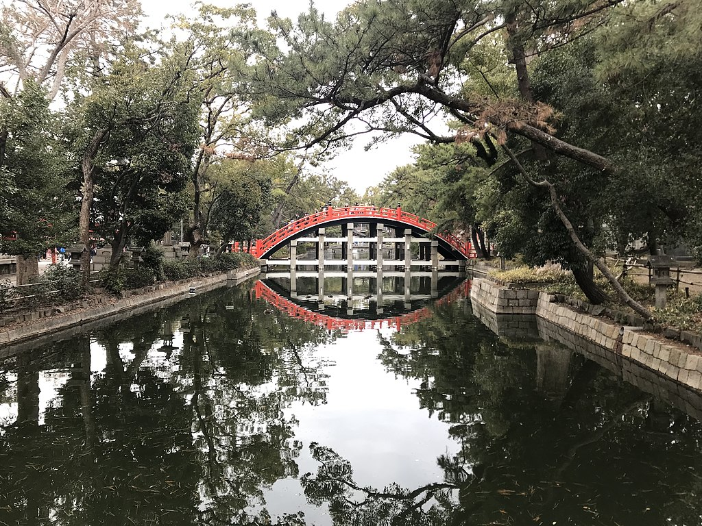 Sorihashi Bridge in Sumiyoshi Grand Shrine 7