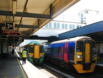 Southampton Central railway station - Southern and Great Western Railway services at Southampton Central