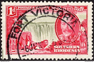 Masvingo - A stamp of colonial Southern Rhodesia used in Fort Victoria.