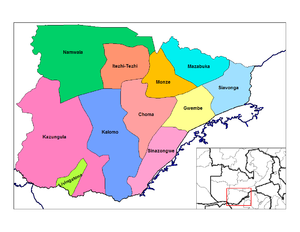 Southern Province, Zambia - Districts of Southern Zambia