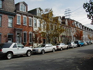 Southside rowhouses typical of late 19th century.