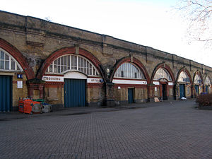 Spa Road railway station - Image: Spa Road railway station January 2012