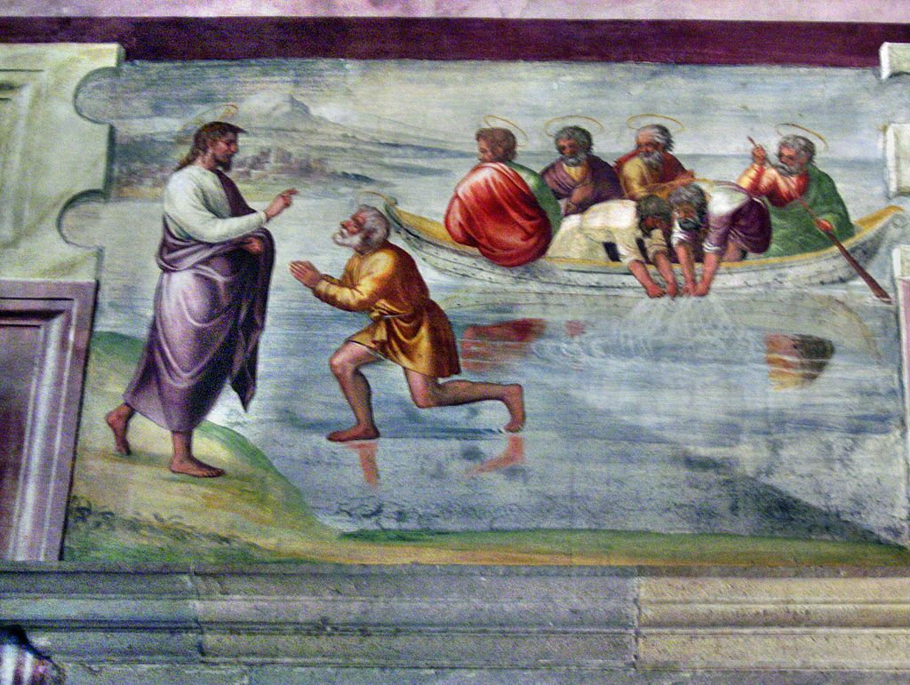 Miraculous catch of 153 fish fresco in the Spoleto Cathedral, Italy dans images sacrée 1024px-Spoleto074