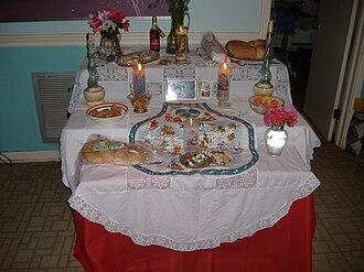 Saint Joseph's Day - Traditional Saint Joseph's Altar in New Orleans