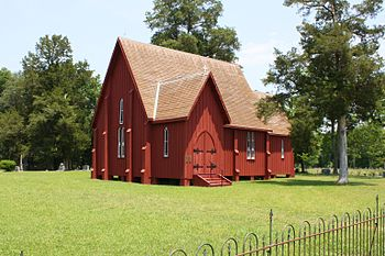 St. Andrew's Episcopal Church in Hale County St. Andrew's Episcopal Church in 2011.JPG