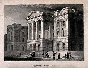 St George's Hospital - St. George's Hospital, Hyde Park Corner. architect William Wilkins