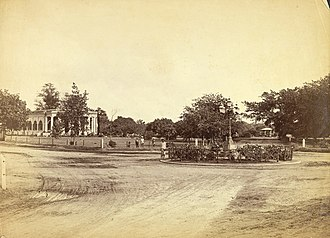 Cubbon Park - Image: St. Mark's Church and Band Stand, Bangalore (1870). 'Views in Bangalore', of the Vibart Collection, by Albert Thomas