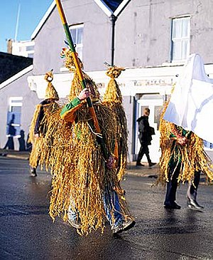 Saint Stephen's Day - Wrenboys on Wren Day in Dingle, Ireland.