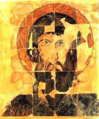 Christian culture - There are few old ceramic icons, such as this St. Theodor icon which dates to ca. 900 (from Preslav, Bulgaria)